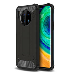 Protect your Huawei Mate 30 Pro from bumps and scrapes with this black Delta Armour case from Olixar. Comprised of an inner TPU section and an outer impact-resistant exoskeleton.