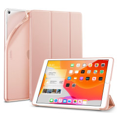 Protect your iPad 10.2 2019 with this supremely functional Rose Gold case with viewing stand feature. Also features smart sleep / wake functionality.