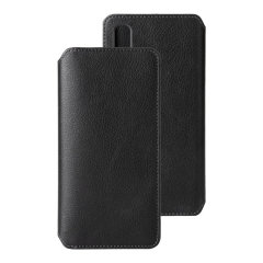 Krusell's Pixbo 4 Card Slim Wallet vegan leather case in Black combines Nordic chic with Krusell's values of sustainable manufacturing for the socially-aware Samsung Galaxy A90 5G owner who seeks 360° protection with extra storage for cash and cards.