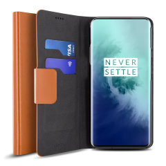 The Olixar leather-style OnePlus 7T Pro Wallet Case in brown attaches to the back of your phone to provide superb enclosed protection and can also be used to hold your credit cards. So you can leave your other wallet home as this case has it all covered.