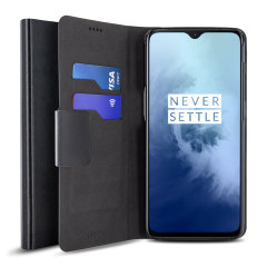 Olixar Leather-Style OnePlus 7T Wallet Stand Case  - Black