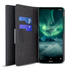 The Olixar leather-style Nokia 7.2 Wallet Stand Case in black provides enclosed protection and can also be used to hold your credit cards. The case also transforms into a viewing stand for added convenience.