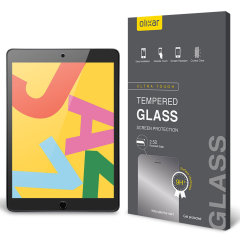 "This ultra-thin tempered glass screen protector for the iPad 10.2"" 2019 offers toughness, high visibility and sensitivity all in one package."