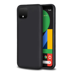 Custom moulded for the Google Pixel 4, this black soft silicone case from Olixar provides excellent protection against damage as well as a slimline fit for added convenience.