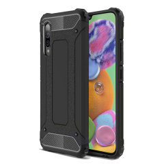 Protect your Samsung Galaxy A90 5G from bumps and scrapes with this black Delta Armour case from Olixar. Comprised of an inner TPU section and an outer impact-resistant exoskeleton.