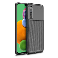 Olixar Carbon Fibre Samsung Galaxy A90 5G Case - Black