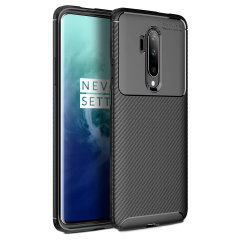 Flexible rugged casing with a premium matte finish non-slip carbon fibre and brushed metal design, the Olixar case in black keeps your OnePlus 7T Pro protected.