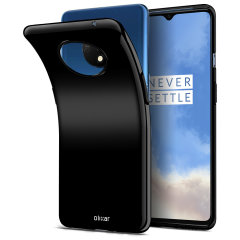 Custom moulded for the OnePlus 7T, this Solid Black FlexiShield case from Olixar provides a slim fitting and durable protection against damage, with an alluring jet black appearance.