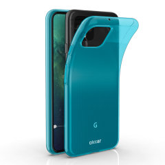Custom moulded for the Google Pixel 4, this blue Olixar FlexiShield case provides slim fitting and durable protection against damage.