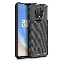 Olixar Carbon Fibre OnePlus 7T Case - Black
