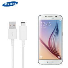 Sync and charge your Samsung Galaxy S6 or any Micro USB device with this Official Samsung white premium Micro USB cable. This Official Samsung  product is made from the highest quality materials and standards ensuring your S6 is not damaged.