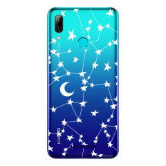 LoveCases Huawei P Smart 2019 Gel Case - White Stars And Moons