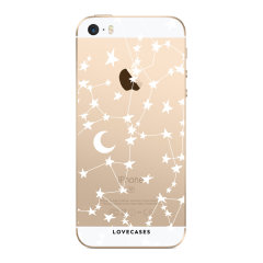 Give your iPhone SE a cute new look with this stars & moons design phone case from LoveCases. Cute but protective, the ultra-thin case provides slim fitting and durable protection against life's little accidents.