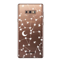LoveCases Samsung Galaxy Note 9 Gel Case - White Stars And Moons