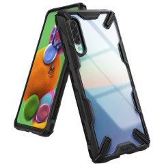 Protégez votre Samsung Galaxy A90 5G des chocs et des chutes à l'aide de la coque Ringke Fusion X en coloris noir. Dotée d'un design polycarbonate en 2 parties, cette superbe coque respecte les normes protectrices et anti-chute militaire. Soyez assuré à ce que votre smartphone soit en parfaite sécurité.