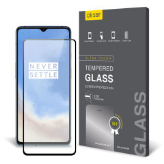 Olixar OnePlus 7T Tempered Glass Screen Protector - Black