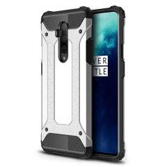 Coque OnePlus 7T Pro Olixar Delta Armour protectrice – Argent