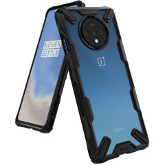 Keep your OnePlus 7T protected from bumps and drops with the Rearth Ringke Fusion X tough case in black. Featuring a 2-part, Polycarbonate design, this case lives up to military drop test standards so you can rest assured that your device is safe