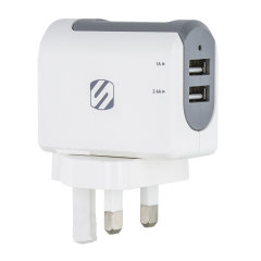 The StrikeBase Dual Port USB Mains Charger is a great value compact UK wall adapter with two universal USB-A charging ports. Use any of your standard USB charging cables to quickly charge a variety of devices, such as mobile phones, tablets and many more.
