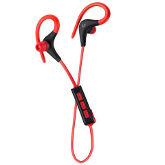 Small, lightweight and perfect for an active lifestyle. This soft touch KitSound Sports Race earphones in Red feature the built-in controls and up to 5 hours time.