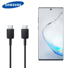 The Official Samsung Note 10 Plus Dual USB-C Power Delivery Cable in black is made form the highest quality materials & standards. This cable is power delivery compatible allowing you to charge ultra fast, control direction & safety surge.