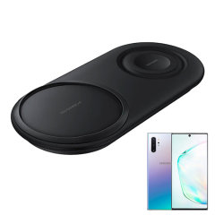 Wirelessly charge your Samsung Note 10 Plus with Wireless Fast Charge technology using this official Samsung Qi Duo Wireless Charging Pad in black. This pad allows dual wireless charging at the same time ensuring you've always got power.