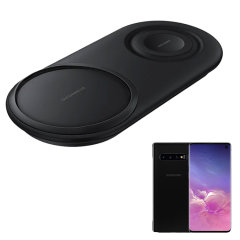 Wirelessly charge your Samsung S10 with Wireless Fast Charge technology using this official Samsung Qi Duo Wireless Charging Pad in black. This pad allows dual wireless charging at the same time ensuring you've always got power.
