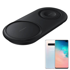 Wirelessly charge your Samsung S10 Plus with Wireless Fast Charge technology using this official Samsung Qi Duo Wireless Charging Pad in black. This pad allows dual wireless charging at the same time ensuring you've always got power.