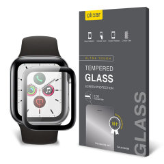 This ultra-thin tempered glass screen protector for the Apple Watch series SE, 6, 5, 4 - 44mm from Olixar offers toughness, high visibility and sensitivity all in one package.