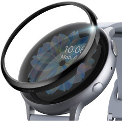 Keep your Samsung Galaxy Watch Active 2 44mm Frontier or Classic Smartwatch screen in pristine condition with this Bezel Styling Protector from Ringke in Black. With easy installation this water-resistant accessory provides daily protection.