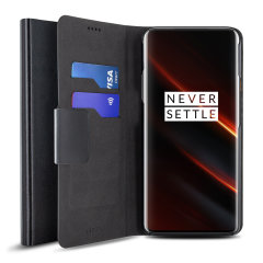 Olixar Leather-Style OnePlus 7T Pro 5G McLaren Wallet Case - Black