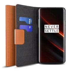 Olixar Leather-Style OnePlus 7T Pro 5G McLaren Wallet Case - Brown