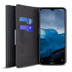 The Olixar leather-style Nokia 6.2 Wallet Stand Case in black provides enclosed protection and can also be used to hold your credit cards. The case also transforms into a viewing stand for added convenience.
