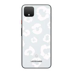 LoveCases Google Pixel 4 XL Clear Leopard Print Case