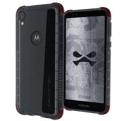 Custom moulded for the Motorola Moto E6, the Ghostek tough case in Smoke colour provides a slim fitting, stylish design and reinforced corner protection against shock damage, keeping your Motorola Moto E6 looking great at all times.
