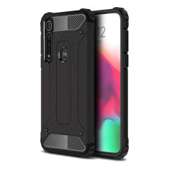 Protect your Motorola Moto G8 Plus from bumps and scrapes with this black Delta Armour Protective case from Olixar. Comprised of an inner TPU section and an outer impact-resistant exoskeleton.