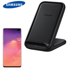 Charge your wireless compatible Samsung S10 Plus quickly with the official fast wireless charging stand 15W in black. Spend less time waiting around for your phone to charge with this official Samsung fast wireless charging stand.