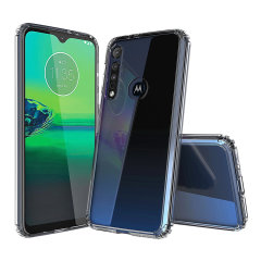 Custom moulded for the Motorola Moto G8 Play, this crystal clear Olixar ExoShield tough case provides a slim fitting, stylish design and reinforced corner protection against shock damage, keeping your device looking great at all times.