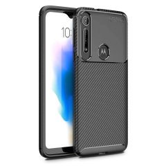 Olixar Carbon Fibre Motorola One Macro Case - Black