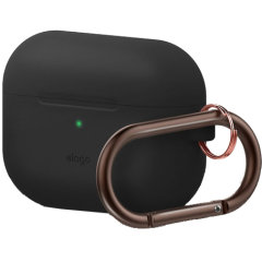 Add superior protection to your Apple AirPods Pro case in Black with this stylish, sleek and minimalist silicone hang cover from Elago. The cover allows full access to your AirPods Pro and their charging case.