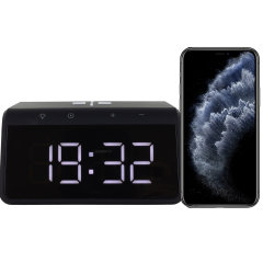 The Smart Alarm Clock 2 from Ksix is the perfect bedside accessory. The slim design displays a clear time without using much space. Never lose power as this clock is built with a Qi Fast Charger for your iPhone 11.