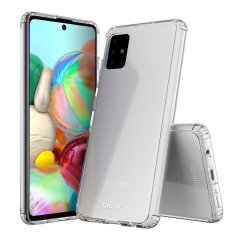 Custom moulded for the Samsung Galaxy A71. This clear Olixar ExoShield tough case provides a slim fitting stylish design and reinforced corner shock protection against damage, keeping your device looking great at all times.