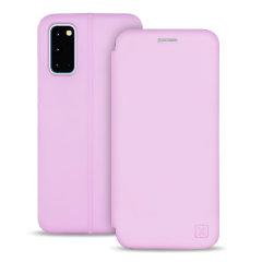 Olixar Soft Silicone Samsung Galaxy S20 Wallet Case - Pastel Pink