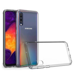 Custom moulded for the Samsung Galaxy A50. This clear Olixar ExoShield tough case provides a slim fitting stylish design and reinforced corner shock protection against damage, keeping your device looking great at all times.