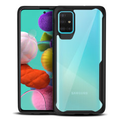 Perfect for Samsung Galaxy A51 owners looking to provide exquisite protection that won't compromise Samsung's sleek design, the NovaShield from Olixar combines the perfect level of protection in a sleek black and clear bumper package.