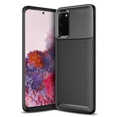 Olixar Carbon Fiber-hoes is een perfecte keuze voor diegenen die zowel het uiterlijk als de bescherming nodig hebben! Een flexibel TPU-materiaal wordt gecombineerd met een opvallende carbonprint om ervoor te zorgen dat uw Samsung Galaxy S11e goed beschermd is en er in elke omgeving goed uitziet.