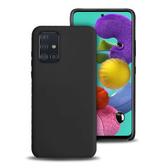Olixar Samsung Galaxy A51 Soft Silicone Case - Black
