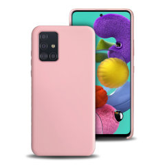 Custom moulded for the Samsung Galaxy A51, this pastel pink soft silicone case from Olixar provides excellent protection against damage as well as a slimline fit for added convenience.