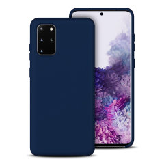 Custom moulded for the Samsung Galaxy S20 Plus, this midnight blue soft silicone case from Olixar provides excellent protection against damage as well as a slimline fit for added convenience.