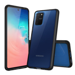 Custom moulded for the Samsung Galaxy S10 Lite. This black Olixar ExoShield tough case provides a slim fitting stylish design and reinforced corner shock protection against damage, keeping your device looking great at all times.